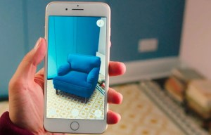augmented reality explained blue chair added to room