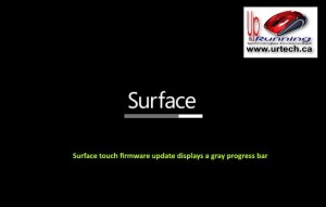 microsoft surface - grey gray bar under surface means Surface touch firmware update displays a gray progress bar