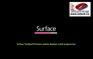 microsoft surface - pink bar under surface means Surface Trackpad firmware update displays a pink progress bar