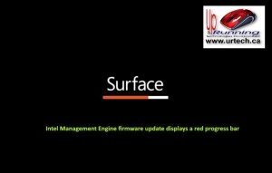 microsoft surface - red bar under surface means Intel Management Engine firmware update displays a red progress bar