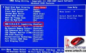 Gigabyte BIOS Screen Enable Drive SMART
