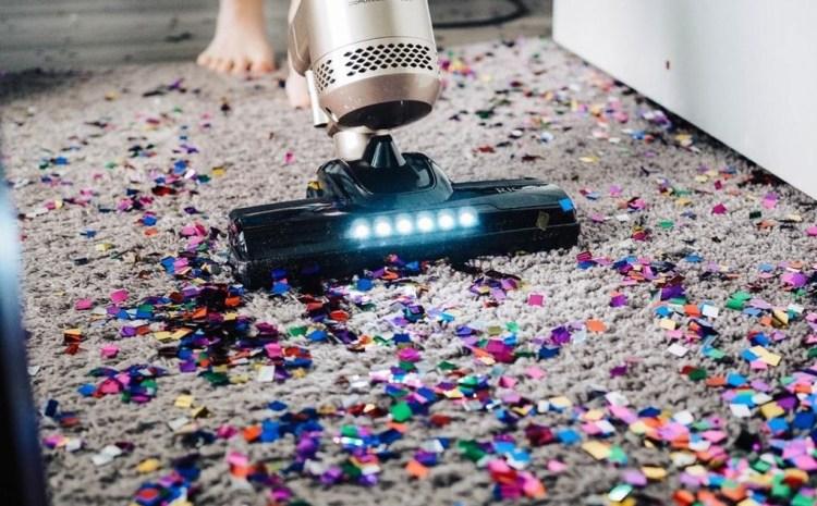 vaccum carpet colored paper
