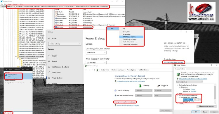 Missing Processor Power Management Settings Option In Advanced Power Options
