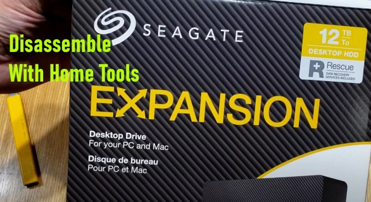 Seagate Expansion Disassembly with Home Tools