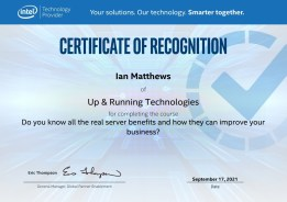 Intel Real Server Course