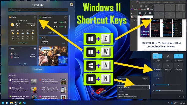 Windows 11 keyboard shortcuts