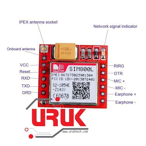 Smallest SIM800L GSM/GPRS Module Micro Sim Card