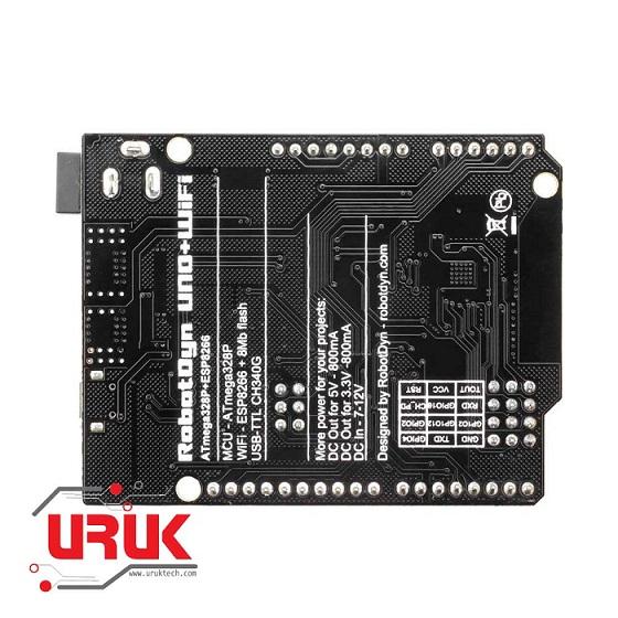 UNO + WiFi R3 Arduino Board (ATmega328P+ESP8266)