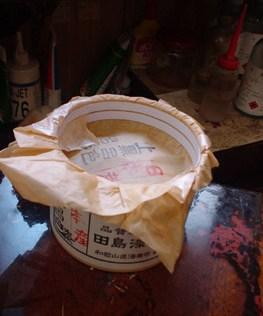 桶に入った漆