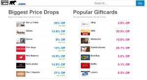 アメリカのギフトカード価格比較サイト