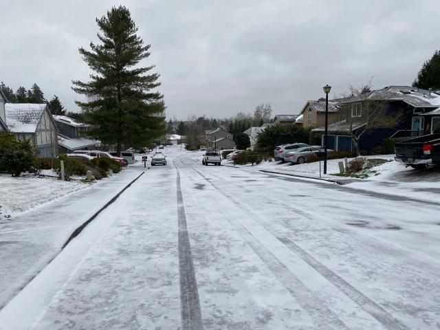 ポートランドの雪