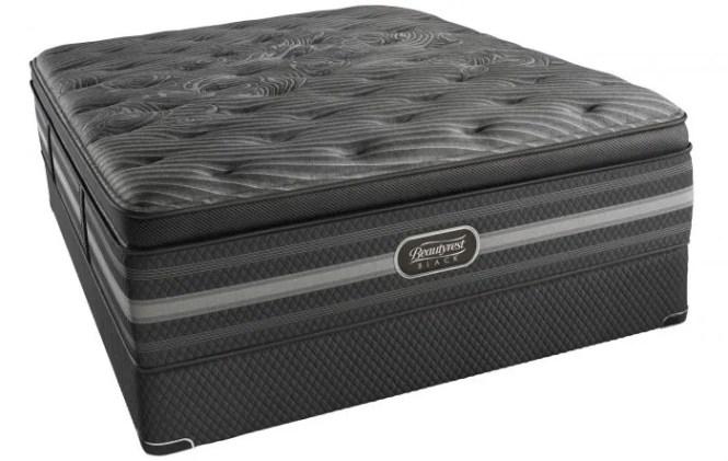 Queen Simmons Beautyrest Black Natasha Plush Pillow Top Mattress Only Ovmp051730