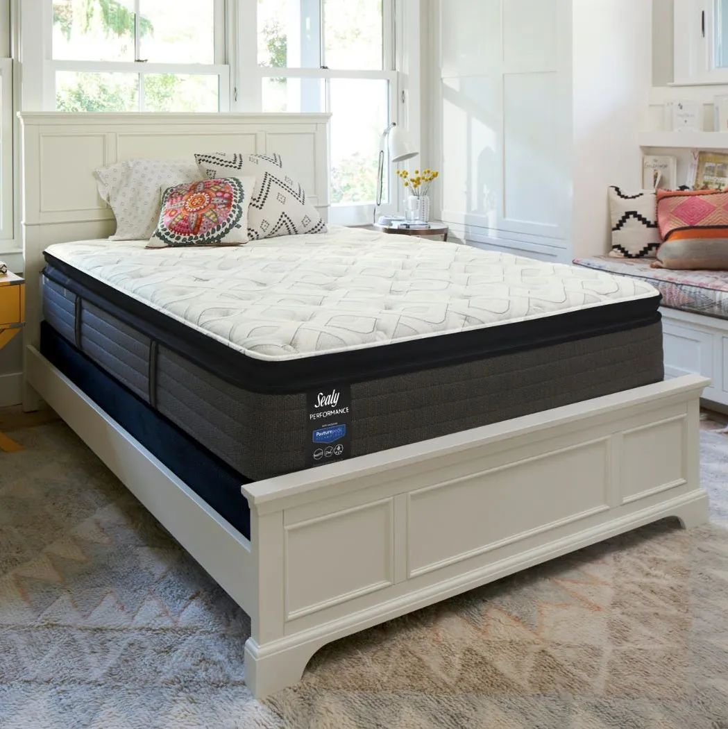 full sealy posturepedic response performance cooper mountain iv cushion firm pillow top 14 inch mattress