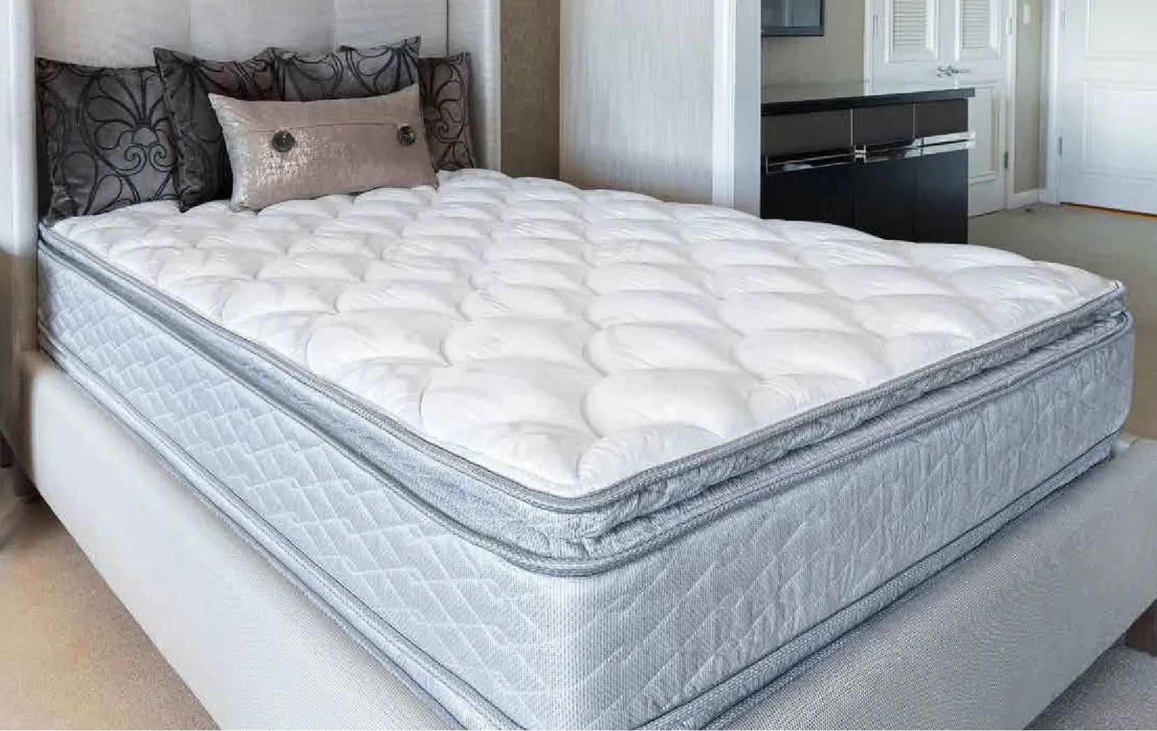 queen serta perfect sleeper hotel congressional suite supreme ii euro pillow top double sided 13 inch mattress