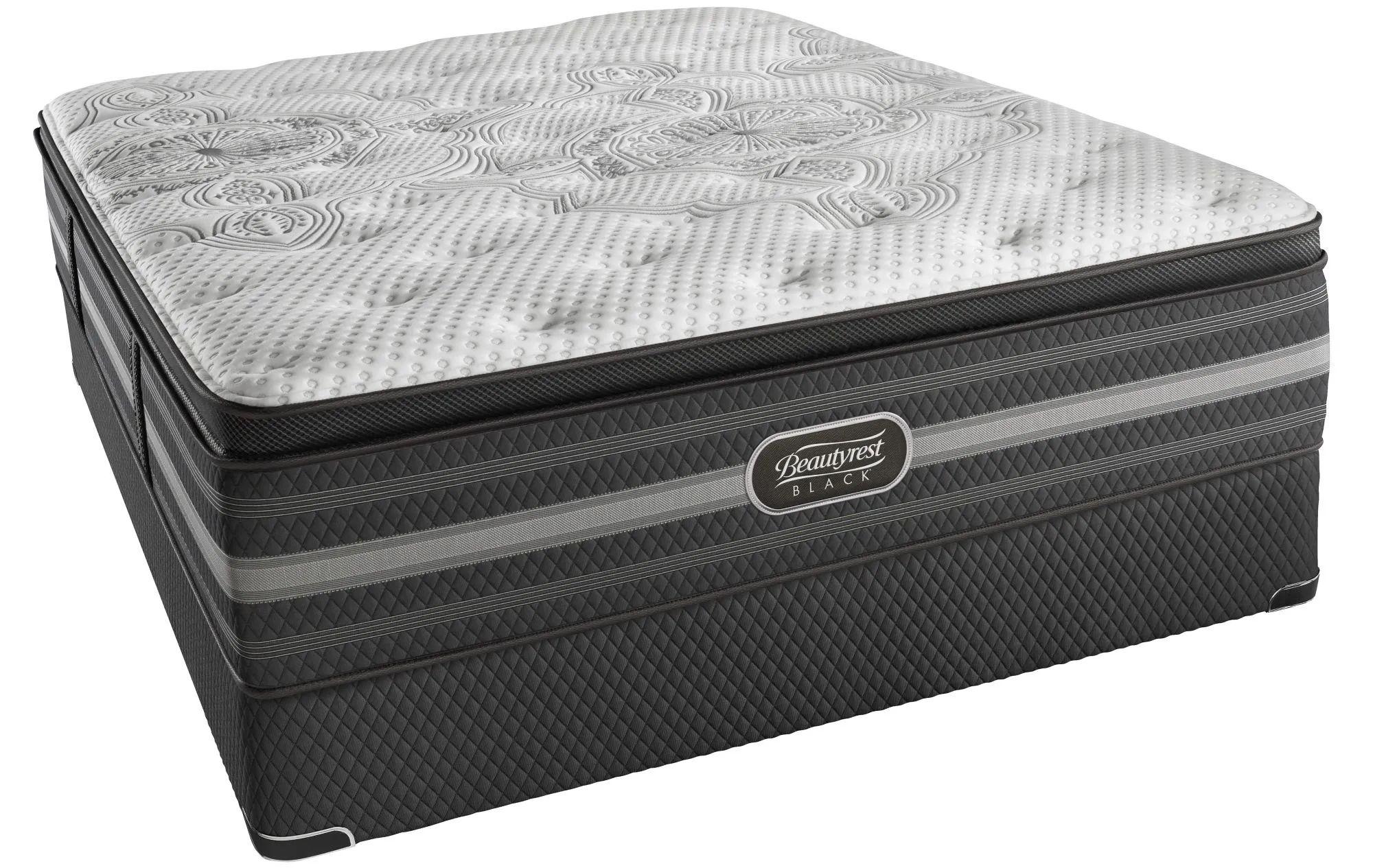 king simmons beautyrest black katarina plush pillow top 15 inch mattress free 300 visa gift card