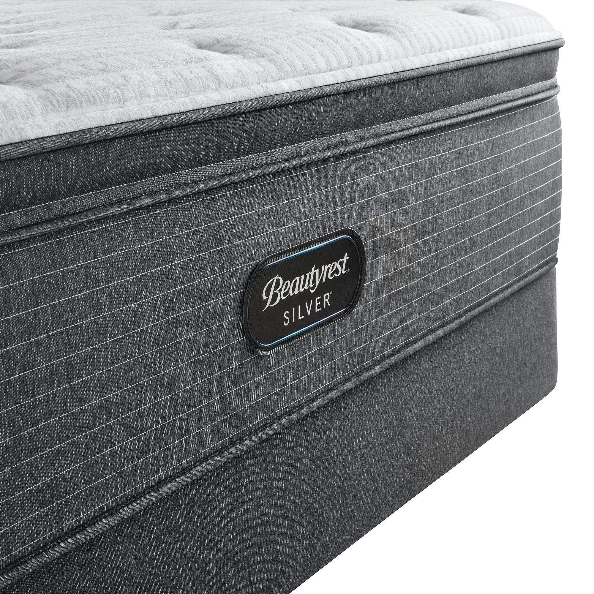 king simmons beautyrest silver level 2 brs900 c plush pillow top 16 inch mattress