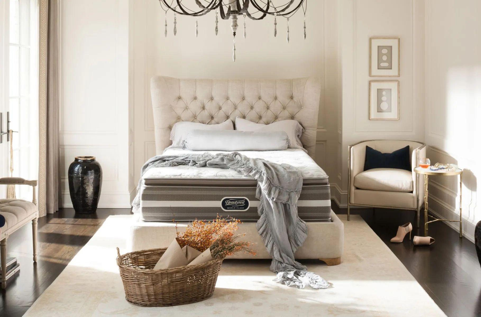 full xl simmons beautyrest recharge world class phillipsburg ii luxury firm pillow top 14 5 inch mattress