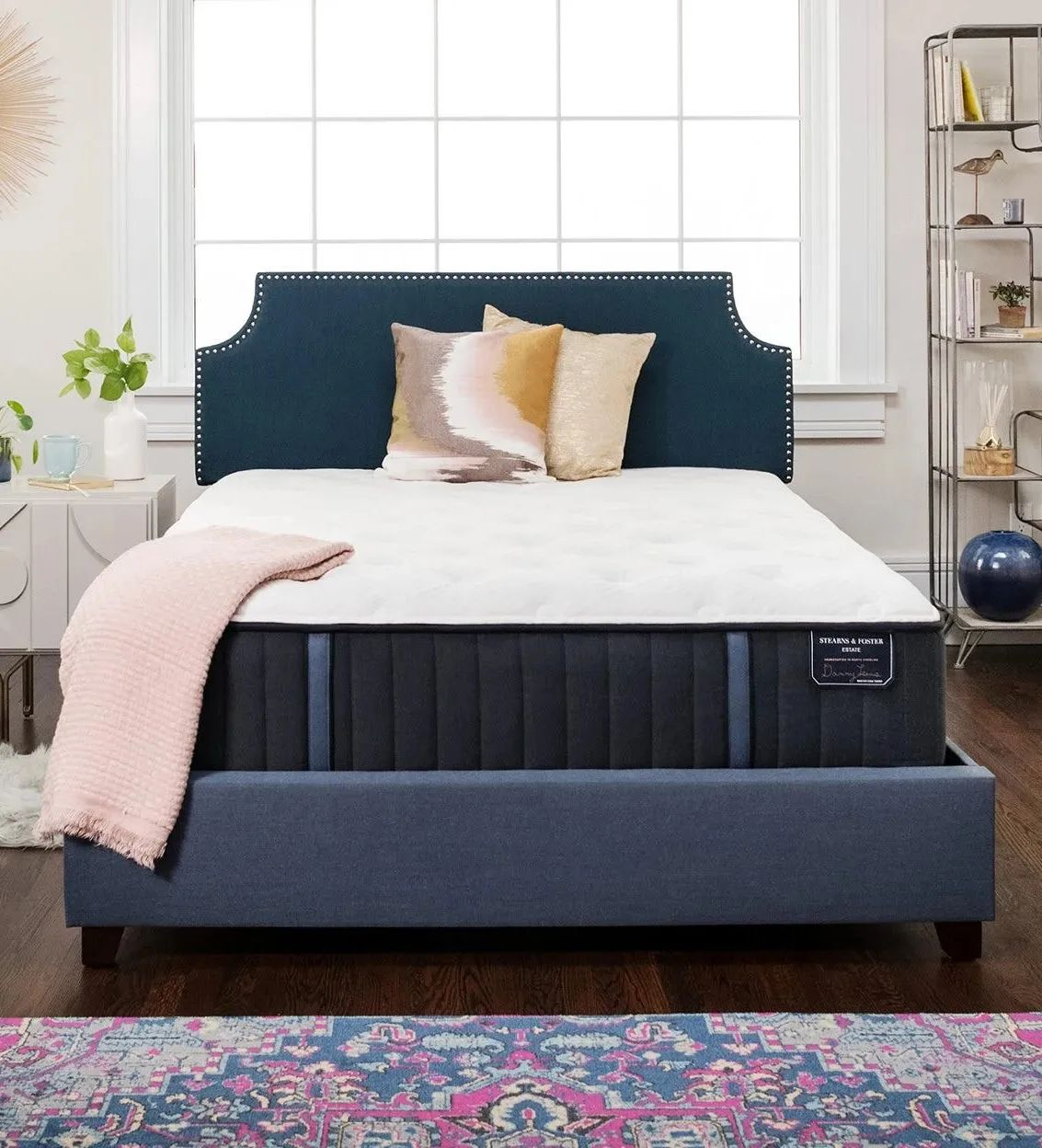 queen stearns and foster estate hurston luxury cushion firm 14 inch mattress free 200 visa gift card