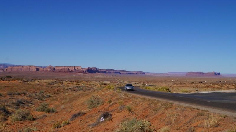 Straße zum Indian Reservat