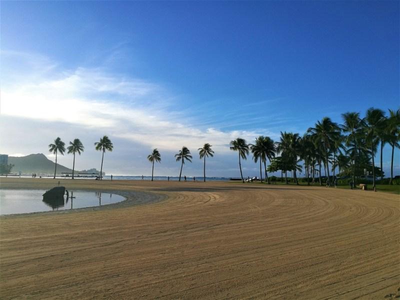 Waikiki am Morgen