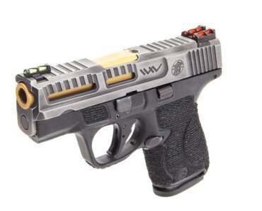Wetwerks M&P Shield 9mm Tungsten Battleworn concealed carry