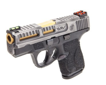 Wetwerks M&P Shield 9mm Tungsten Battleworn concealed carry