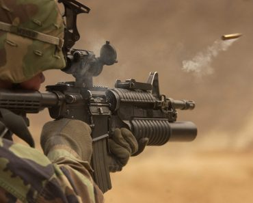 The actual military-grade M4 Carbine, different to the AR-15 you can buy