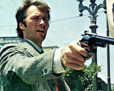 Dirty Harrry points his 357 Magnum peashooter