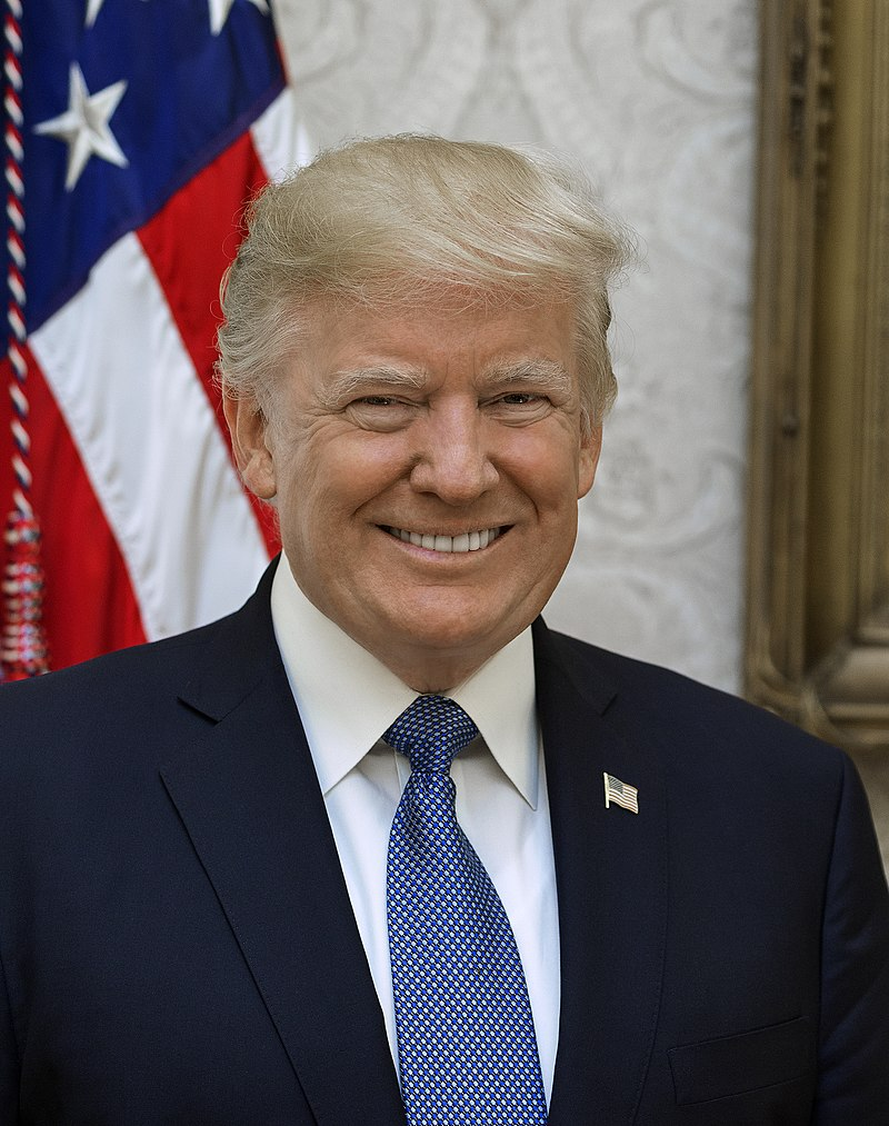 Donald Trump official portrait copyright free
