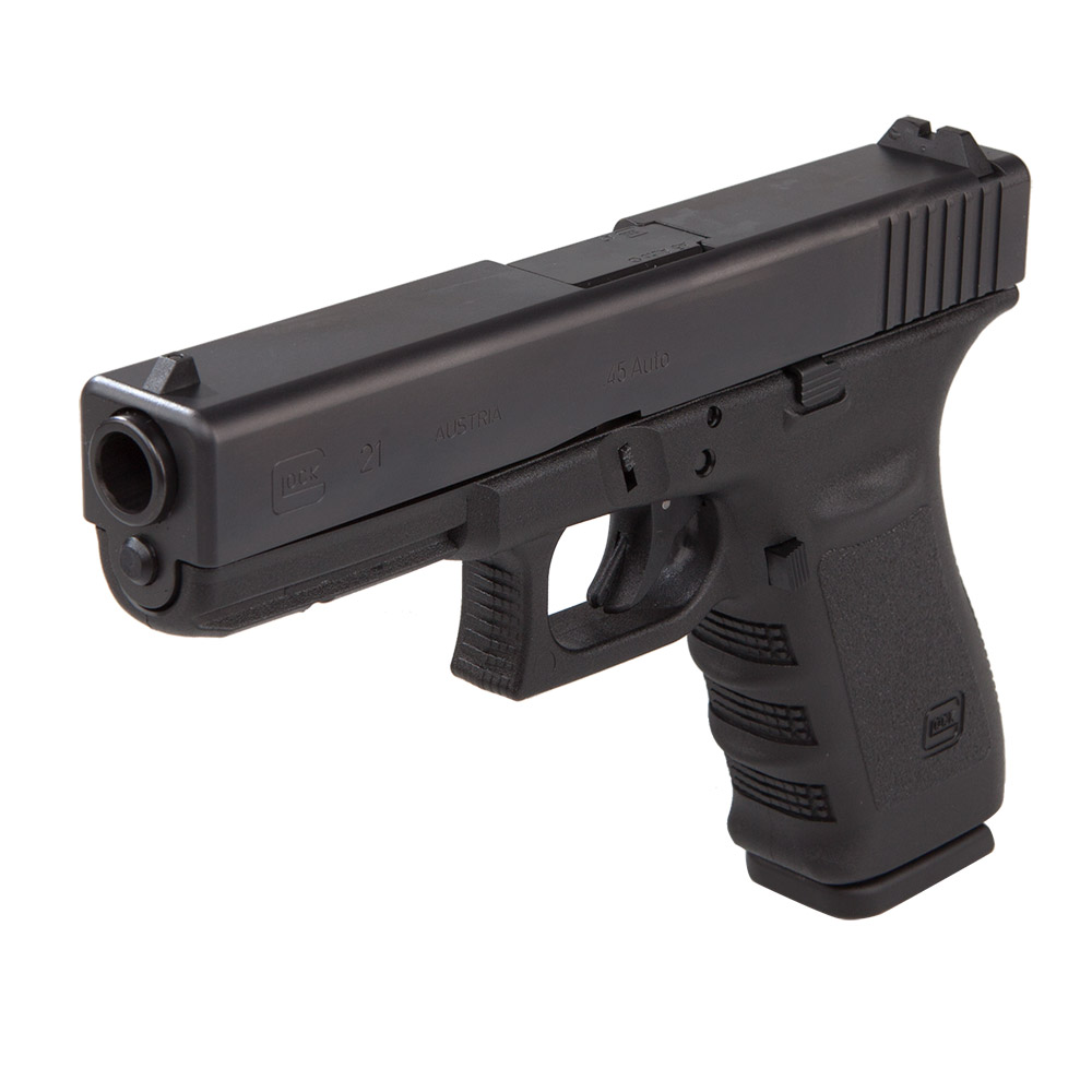 Glock 21 45 ACP. The famously soft shooting 45 Cal Glock that the police love