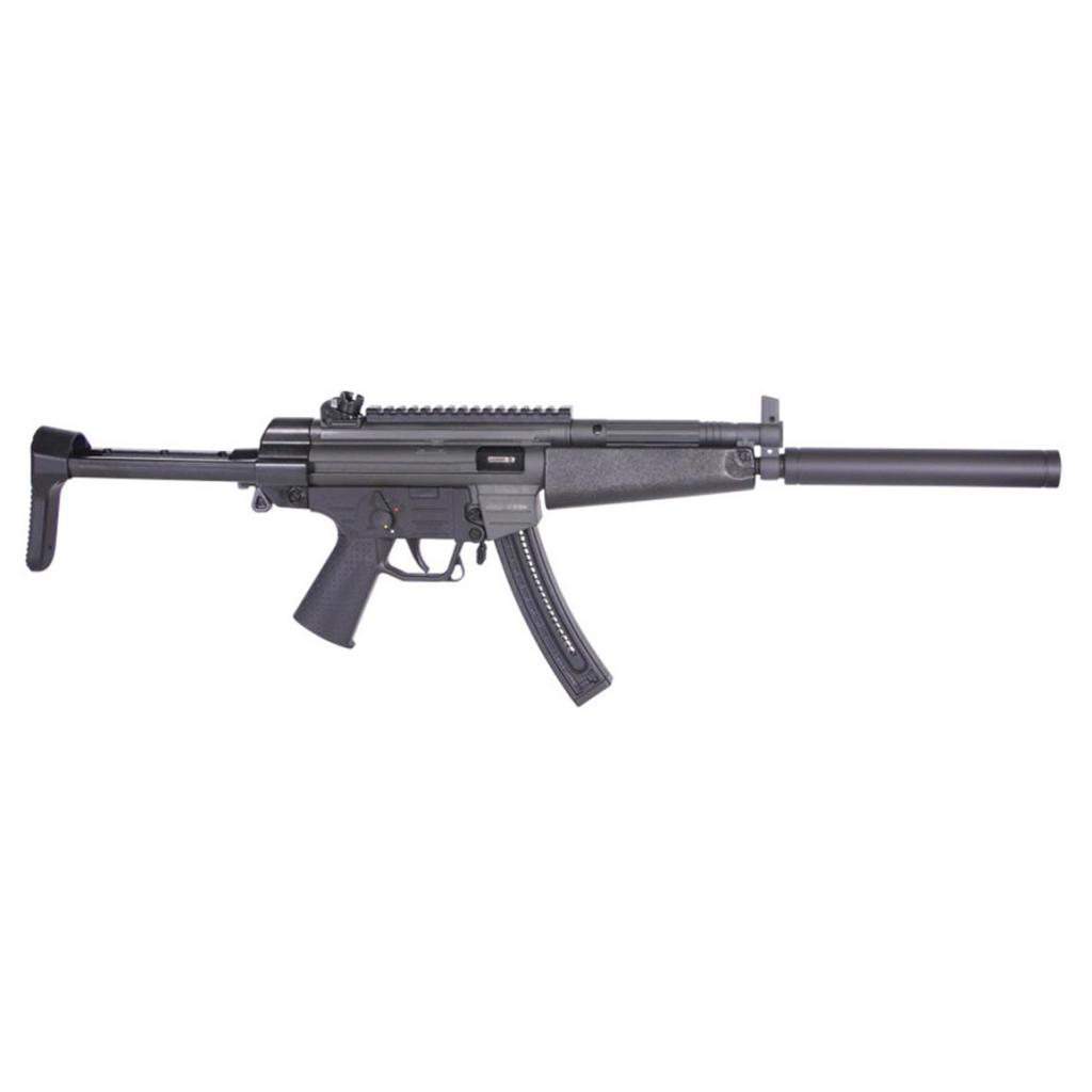 The ATI GSG-16 22LR for sale. It looks a lot like a Heckler & Koch MP5, but not too much for the lawyers