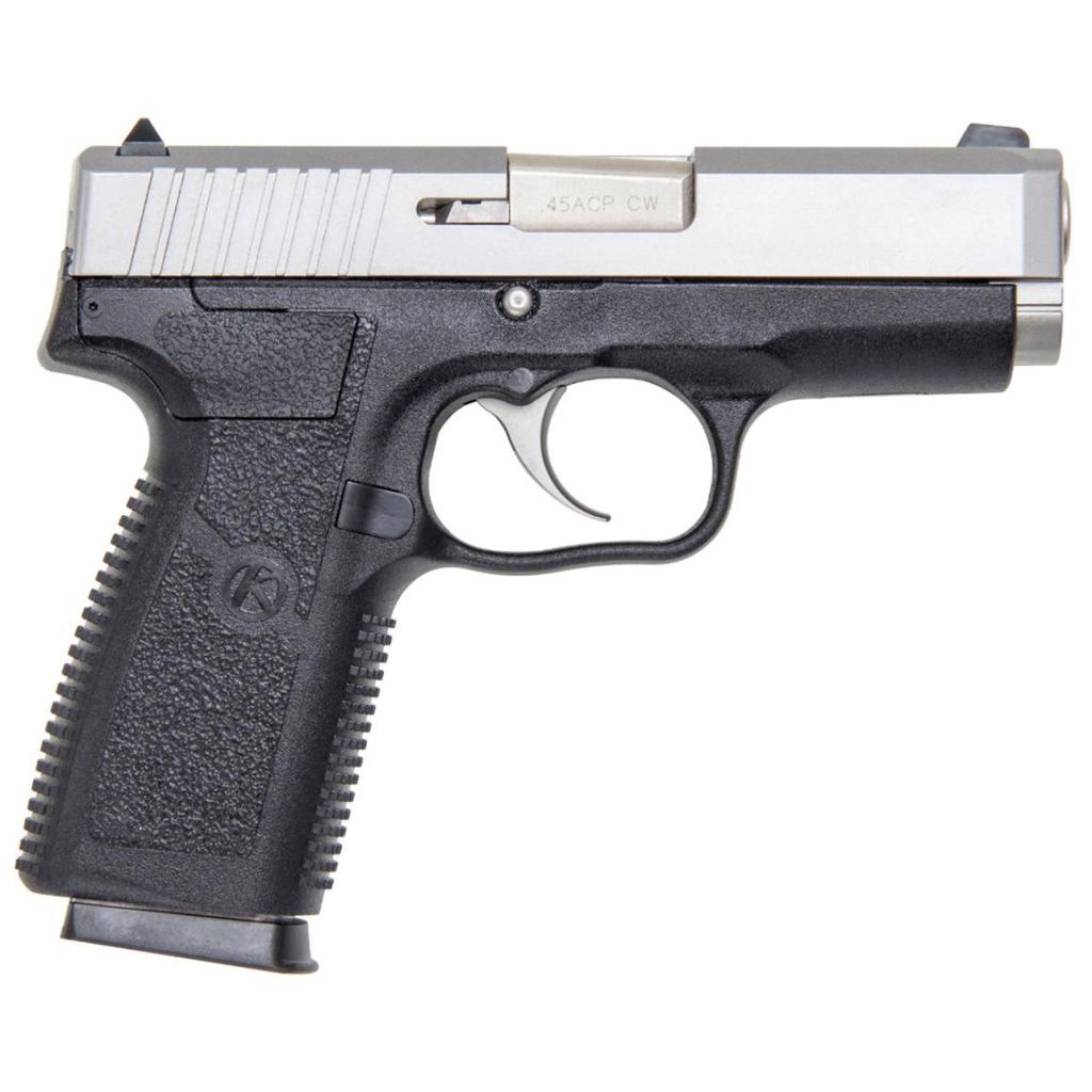 Kahr Arms CW45. A concealed carry 45 ACP legend comes up with innovation, a double action only handgun with a locked breech.