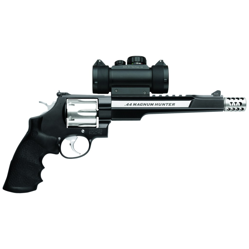 Smith & Wesson 629 Specialist Hunter for sale. A 44 magnum revolver with a scope, a compensator and hunting pedigree.