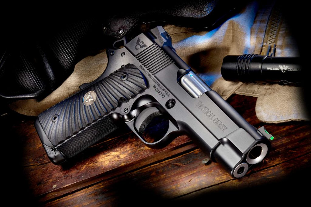 Wilson Combat 1911 Tactical Carry. Wilson Combat handguns on sale at discount prices at the USA Gun Shop.