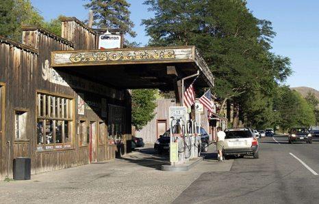 US-Tankstelle im Western style