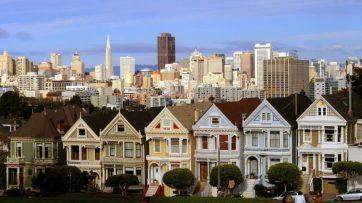 san Franciscos berühmtesten viktorianischen Häuser, die Painted Ladies.