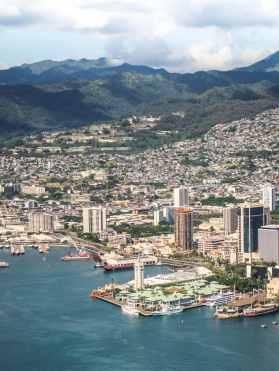 Oahu und Honolulu von oben