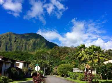 Straßen von Oahu, Hawaii.