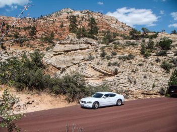 Dodge Charger im Zion Nationalpark