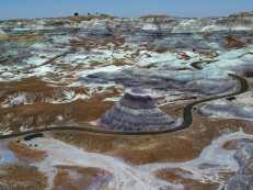 Blick in den Petrified Nationalpark, USA