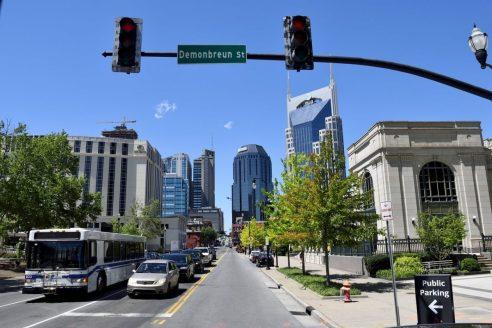 Die Straßen von Nashville im Bundesstaat Tennessee