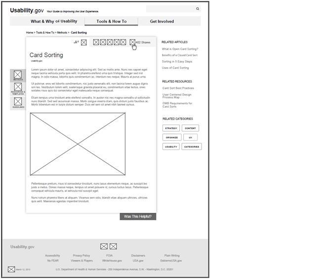 Example of a wireframe of Usability.gov