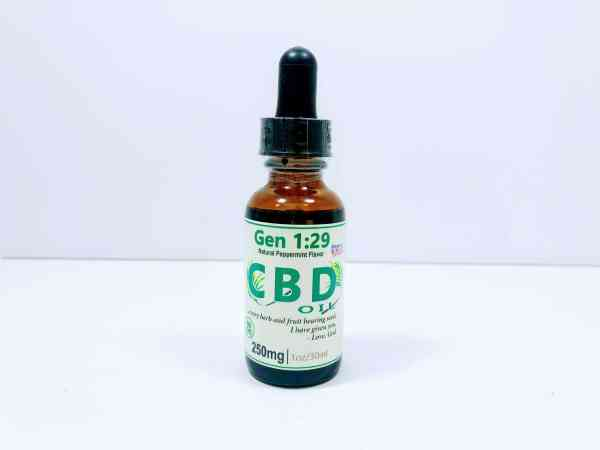 isolate 250mg CBD oil peppermint