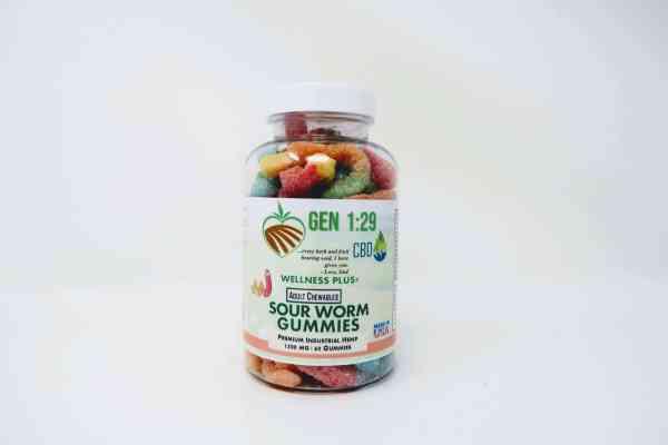 1500mg cbd sour worm gummies