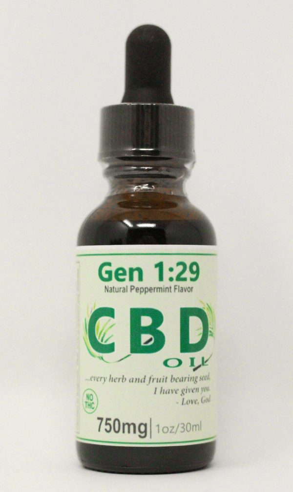 CBD 750 isolate peppermint oil