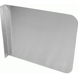 stainless wall mounted hand sink splash guard 15