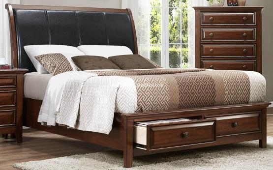 Homelegance 2 Piece Sunderland Storage Bed-Nightstand
