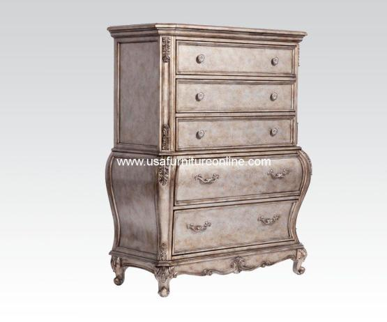 Chantelle Five Drawer Chest Antique