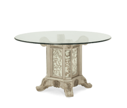 Platine De Royale Round Glass Top Dining Table