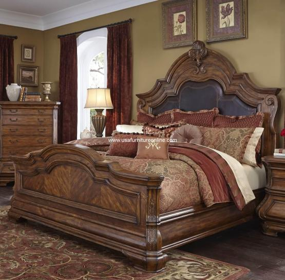 Tuscano Melange Mansion Bed by aico